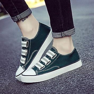 YSFU zapatillas Zapatillas De Deporte De Las Mujeres Otoño Transpirable De Color Sólido Zapatos Deportivos Zapatos De Lona Ocasionales Plataforma para Mujer ...