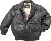 Amazon.com: Momo Grow Big Boys Faux Leather Flight Bomber Jacket