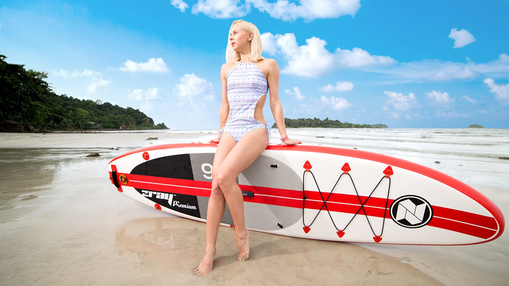 Zray Paddle Board 9'10'' Inflatable SUP Package (Board, Pump, Paddle and Backpack bag), 6'' Thickness by Zray (Image #8)