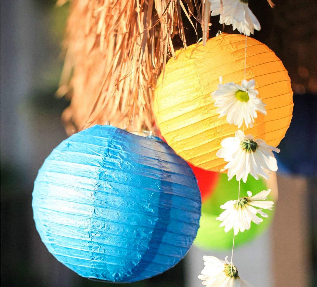 F/ête Etc No/ël Tailles Assorties pour D/écoration De Mariage R/éception Crafts DIY Lanternes pour D/écoration De Lanternes en Papier Chinoises Maison 21 Lanternes De Papier Color/ées Anniversaire