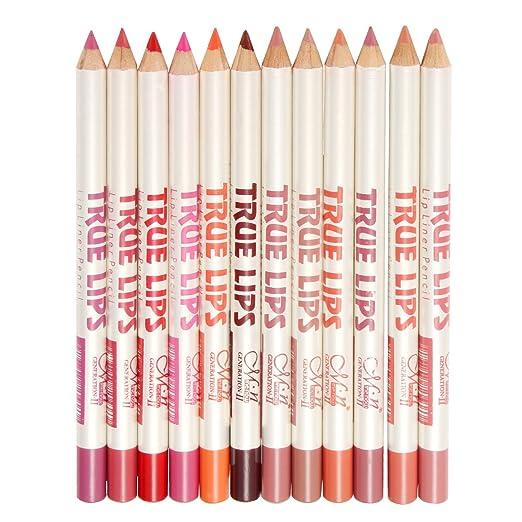 38 opinioni per LuckyFine professional makeup lip liner pencil waterproof lasting lip liner 12