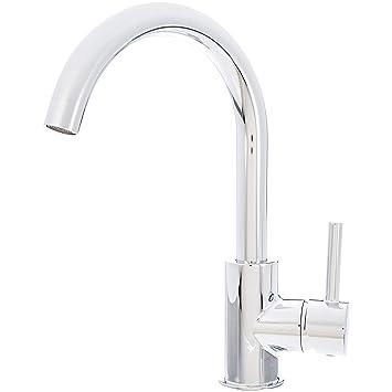Das Waschbecken.Amazonbasics Moderner Wasserhahn Für Das Waschbecken Langer Hals Poliertes Chrom