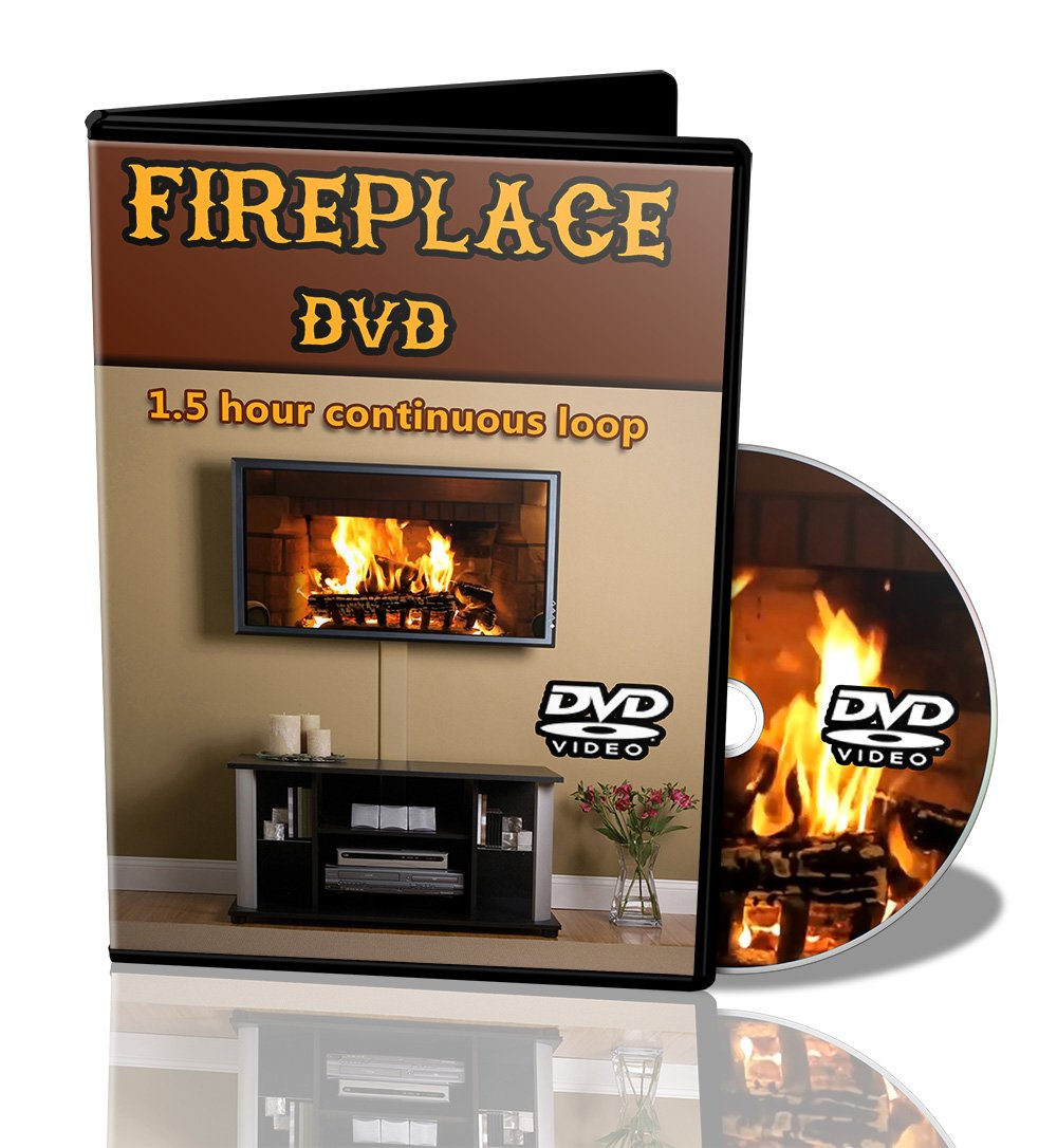 Amazon com: DVD Fireplace Hd Fire on Your Tv - Realistic