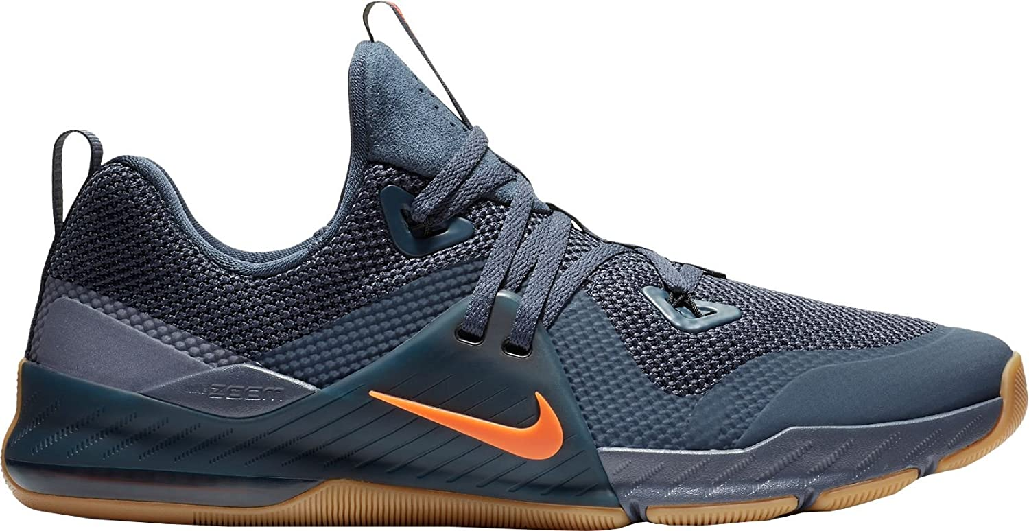 NIKE Men's Zoom Train Command Training Shoe B0725W6S57 10 D(M) US|Blue/Orange-m