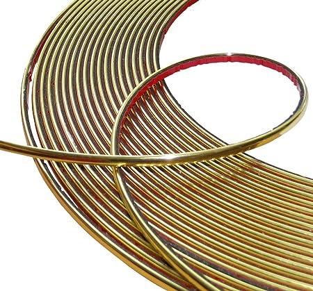 Aerzetix 4mm 15m Stick Klebeband Goldene Farbe Gold Elektronik