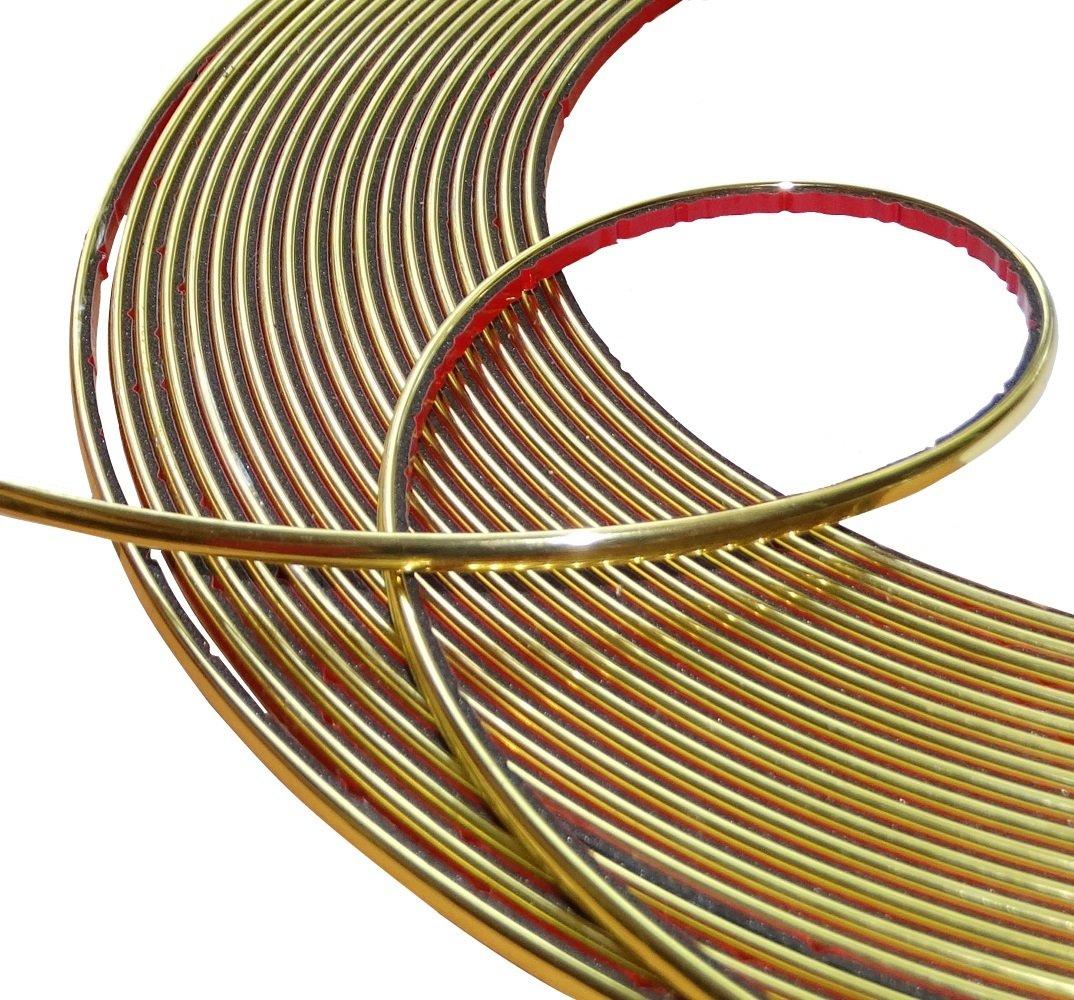 Aerzetix: 4mm 15m Bande baguette adhésive couleur or doré SK2-C12436-AB38