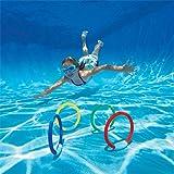 edealing (TM) 4 X sous-marine Natation Plongée Sinking Piscine Toy Anneaux Kid Enfants