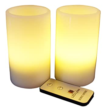 Amazon.com: LED Lytes Flameless Candles, Battery Operated Pillars ...