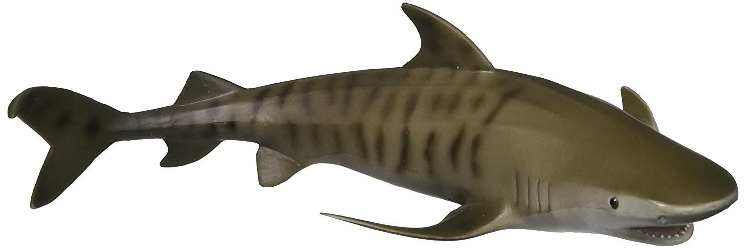 CollectA Sea Life Tiger Shark Toy Figure - Authentic Hand Painted Model