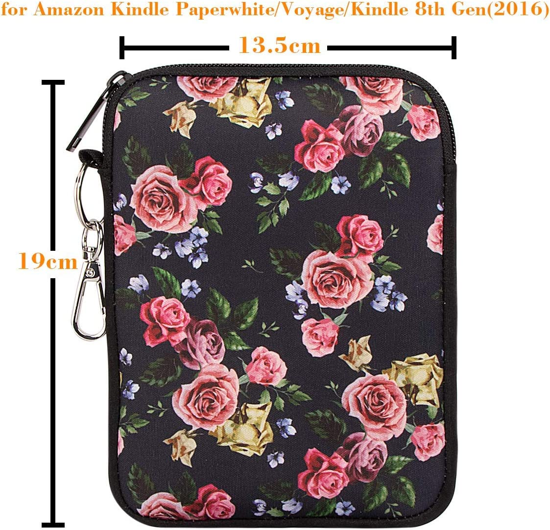 Neoprene Cover Pouch Bag for  Kindle Paperwhite//Kindle Voyage//Kindle 8th Generation // Kindle Oasis 6 E-Reader 2016 Sleeve for Kindle in 6 Inch