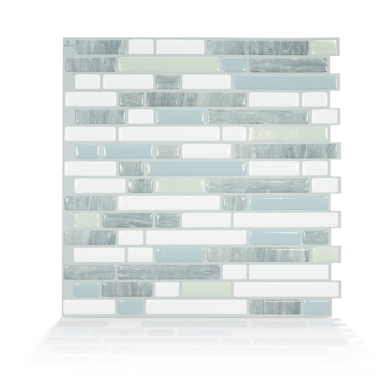 Smart Tiles Peel And Stick Backsplash Adhesive Wall Tiles Bellagio Costa  (Pack Of 4) Quinco ...