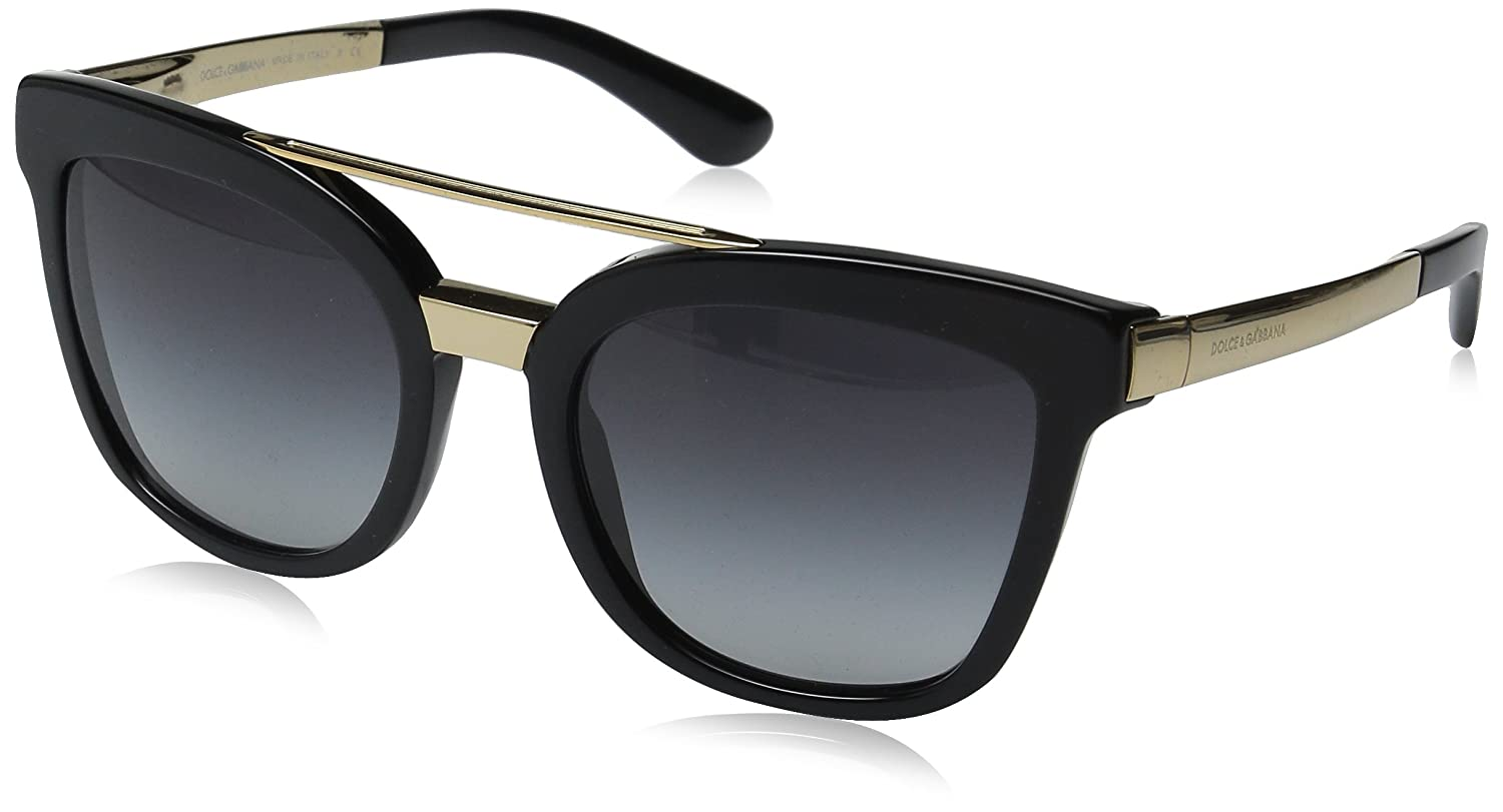b72d227df920 D&G Dolce & Gabbana Women's 0DG4269 Square Sunglasses, Black/Grey, 54 mm:  Amazon.in: Clothing & Accessories