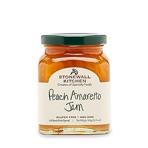 Stonewall Kitchen Peach Amaretto Jam, 12.5 Ounces