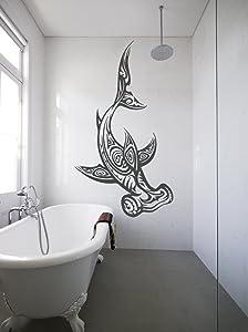 ik1198 Wall Decal Sticker Tattoo Hammerhead Shark Style Fish Bathroom Living Room