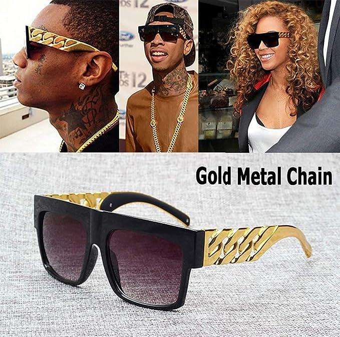 Moda Celebridad inspirada Oro Metal Cadena Kim Kardashian ...