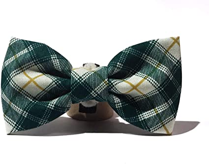 Very Vintage Design Dog Cat Collar Bow Tie Plaid Personalized Adjustable Pet Bowtie Collars Preppy Soft Comfy Cotton Hand Crafted Collection