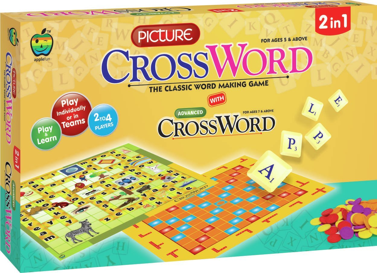 Buy Apple Fun Picture Cross Word Board Game Online At Low Prices In India