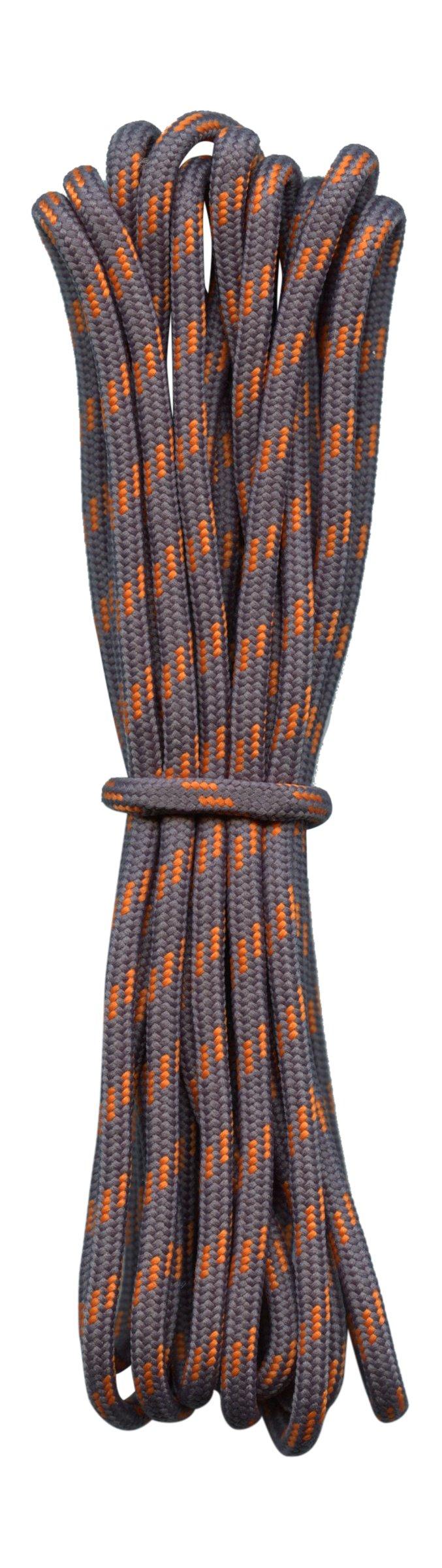 Hiking Boot Laces- grey with orange flecks - 3/16''diameter