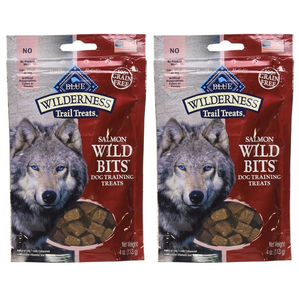 bluee Buffalo Wilderness Trail Treats Salmon Wild Bits (2 Pack) 4 OZ
