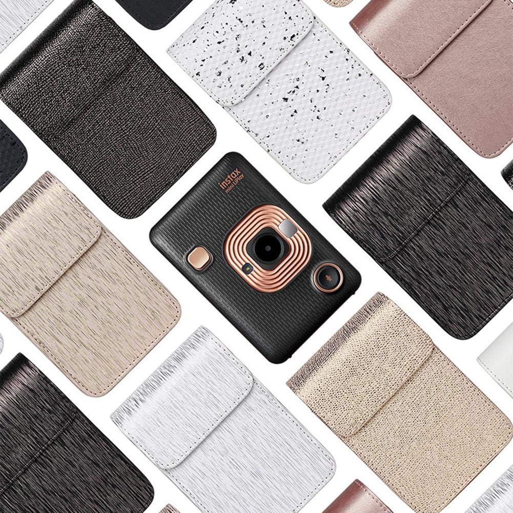 Maintenant avec Housse de Pluie Sacs Photo Chengstore /Sac en Cuir PU Convient pour Fuji Fujifilm Instax Mini Liplay Sacs /à Main en Cuir PU Noir