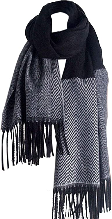Jastore Kids Girls Boys Warm Winter Soft Cashmere Blanket Scarf Tassel Shawl Scarf