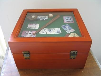 Amazoncom Wooden Baseball Card Collectors Box W Baseball Cards