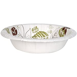 Dixie Ultra SXB12WS Pathways WiseSize Heavy Weight Paper Bowl, 12 oz (Case of 4 Packs, 125 Bowls per Pack)
