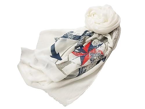 La Loria bufanda marítima para mujer Anchor el chal, el pañuelo, el mantón - bufanda de anclaje