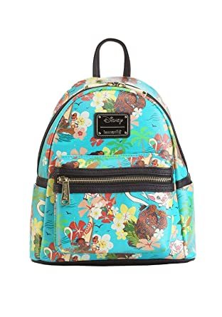ae2de4b8be7 Loungefly Disneys Moana All Over Print Teal Mini Backpack Standard