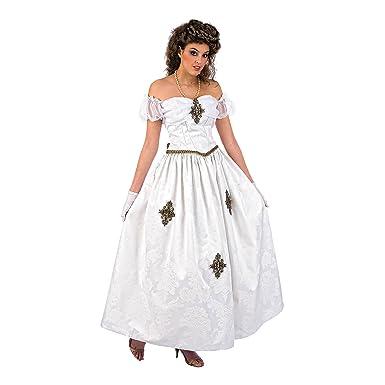 af5a074d3 Emperatriz Sissi Disfraz Romántico Emperatriz Elisabeth de Austria vestido  blanco  Amazon.es  Ropa y accesorios