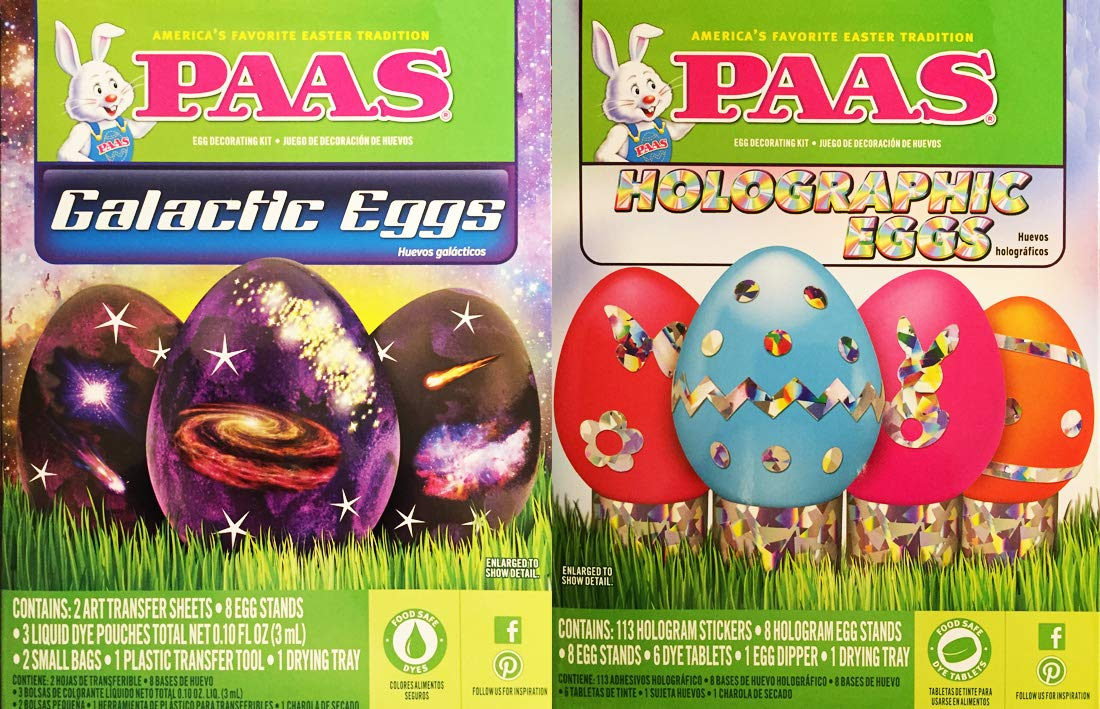 Paas-Galactic and Holographic Eggs Easter Egg Color Dye Kits