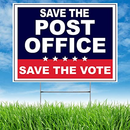 U.S.P.S SAVE the POST OFFICE Lawn Sign