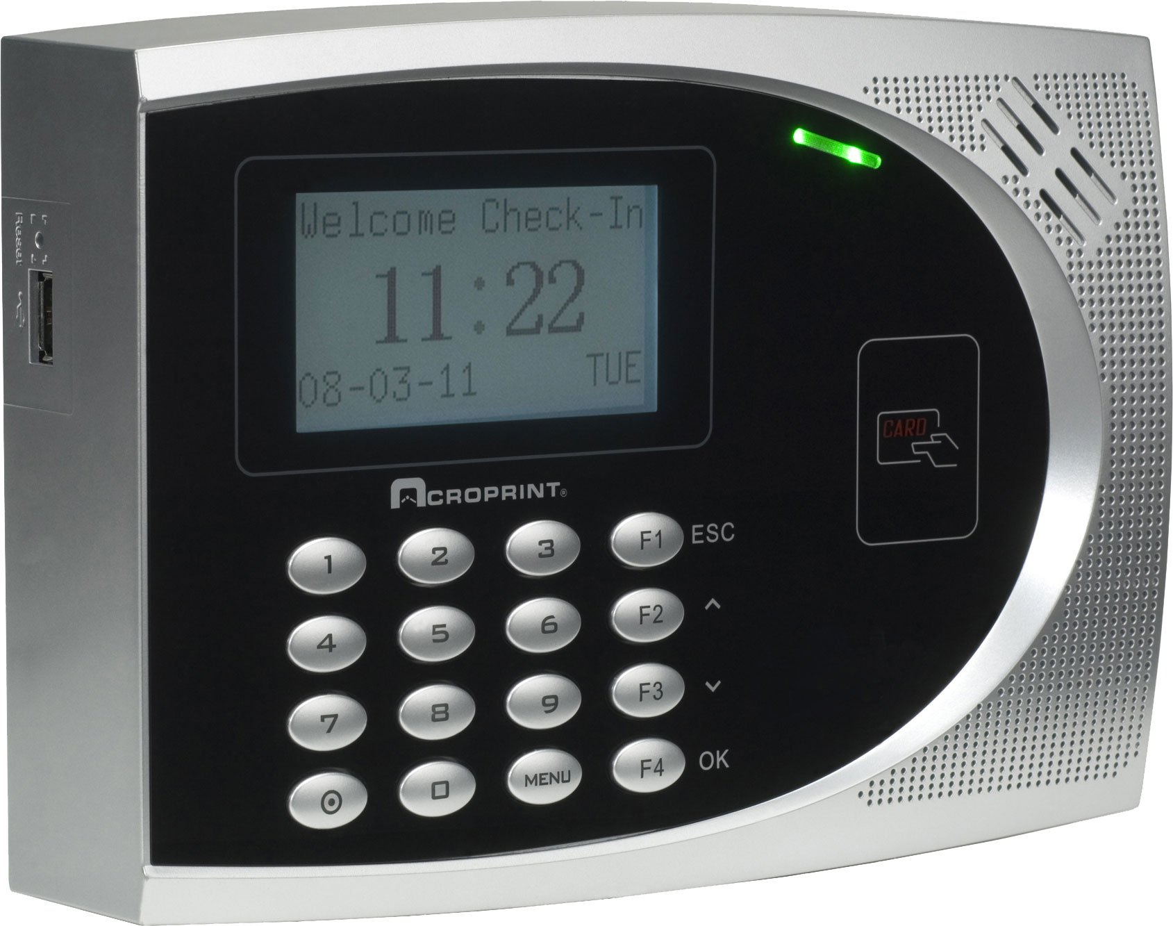 Acroprint 01-0249-000 TimeQplus Proximity Bundle (English/Spanish); Includes timeQplus Sotfware and TQ600P proximity terminal with cables, power supply and mounting hardware by Acroprint