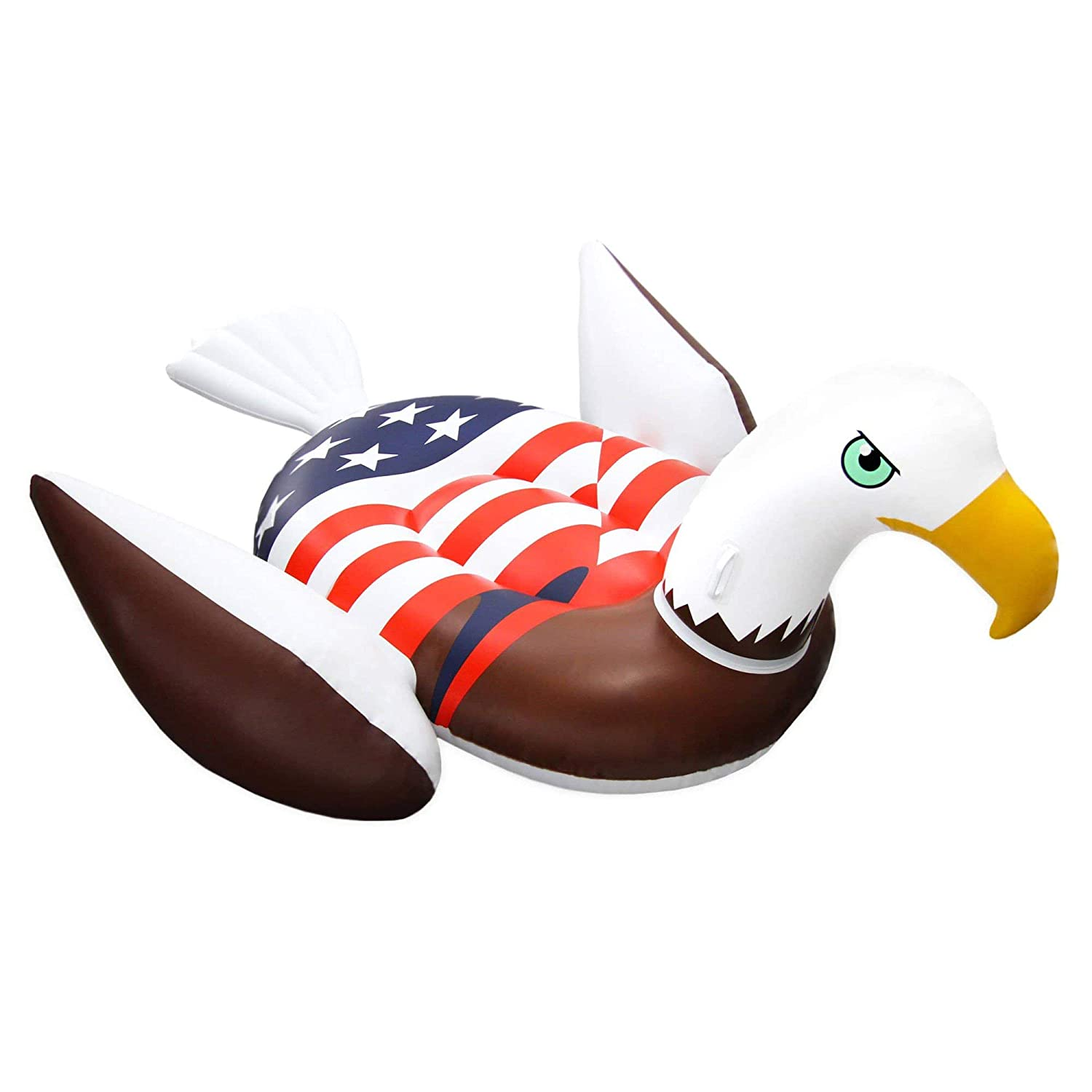 Giant Rideable Patriotic American Bald Eagle Inflatable Swimming Pool Float by Swimline