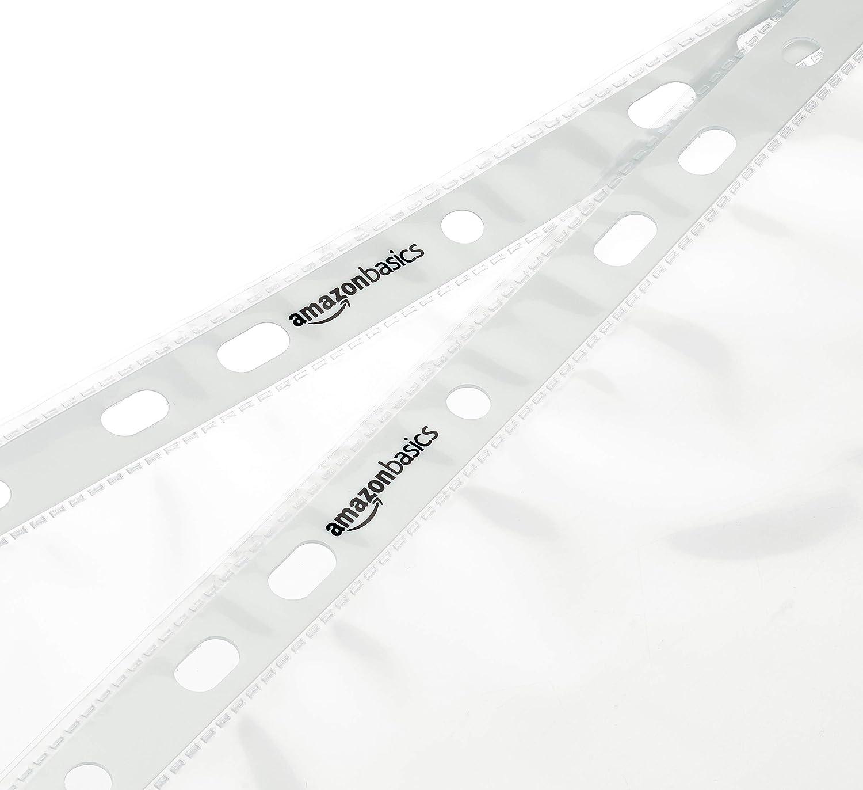 60 Mikron gelocht Basics Prospekth/ülle transparent 100 St/ück glatt
