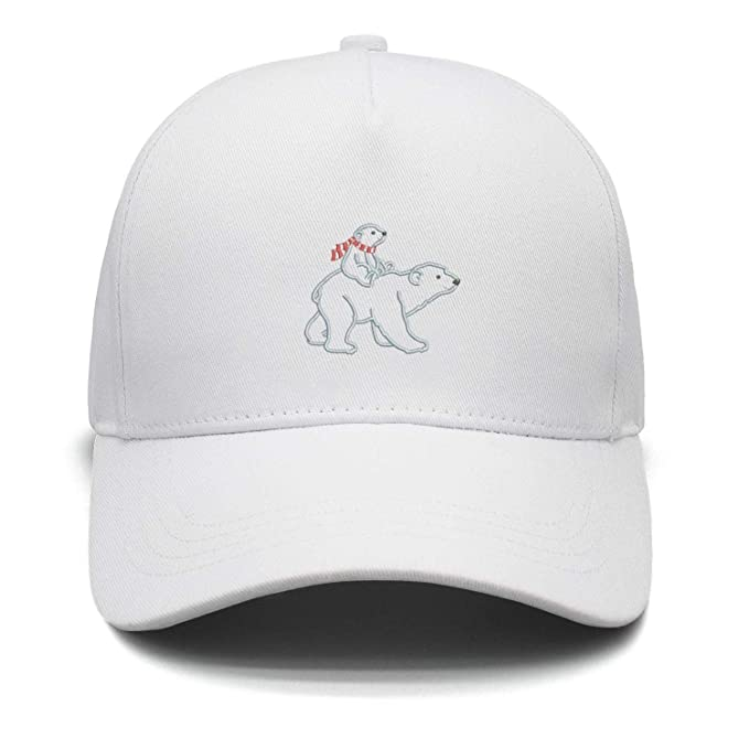 Polar Bear Adult and Baby Men s Hat Daily Use Trucker hat Trendy Snapback  Hats for Men be3db97d6e5