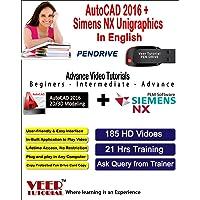 Veer Tutorial AutoCAD 2016 + Siemens NX Unigraphics Video Training (1 Pen Drive, 21 Hrs Training, 185 HD Videos) in English