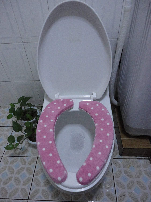 Toilet Cushion Toilet Cushion The Bathroom Toilet Mat Mat Three Piece Bathroom Mat,C