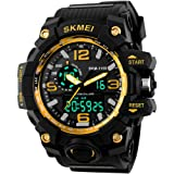 Skmei Analog-Digital Black Dial Men's Watch-1155 Gold