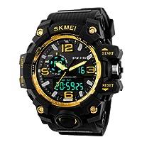 Skmei Analog-Digital Black Dial Men's Watch - 1155 Gold