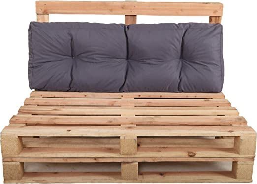 Chicreat - Juego de cojines para muebles de palés, 120 x 40 x 10/20 cm: Amazon.es: Jardín