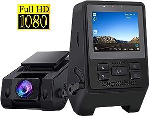 Dash Camera for Cars Recorder Super Night Vision, 170° Wide Angle, Motion Detection, Parking Monitoring, G-Sensor, Loop Recording
