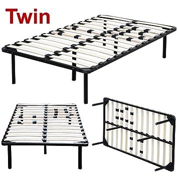 topeakmart twin full queen king size platform metal bed frame bedroom wood slats mattress foundation base