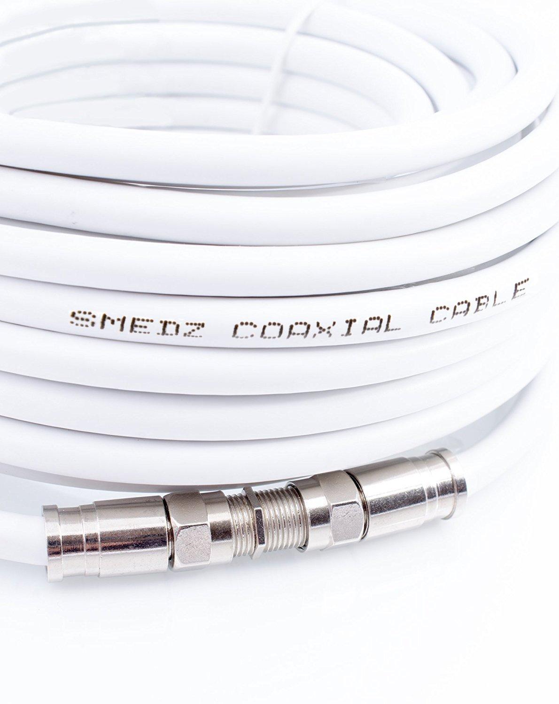 Kit de extensión Mast Digital, de cable satelital doble, con conectores de compresión F para Sky y Freesat: Amazon.es: Electrónica