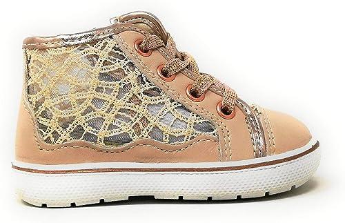desempleo O después Raramente  PRIMIGI 5357100 hohe Turnschuhe Mädchen Schuhe perforierte Spitze Netzwerk  rosa Leder: Amazon.de: Schuhe & Handtaschen