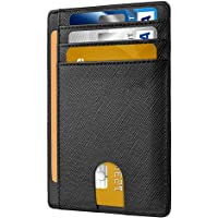 Dlife Slim Wallet RFID Front Pocket Wallet Minimalist Secure Thin Credit Card Holder (Black)
