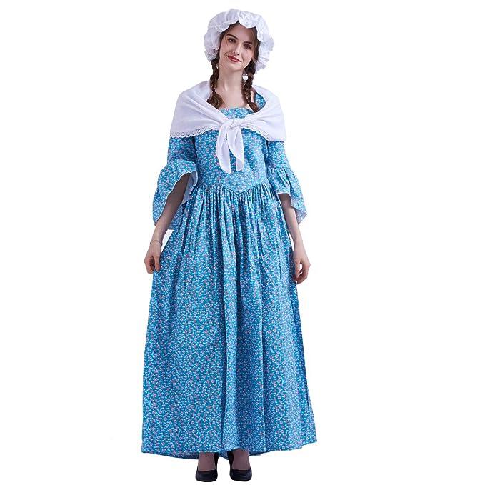 GRACEART Vestido de Traje de Mujer pionero Colonial Doncella ...
