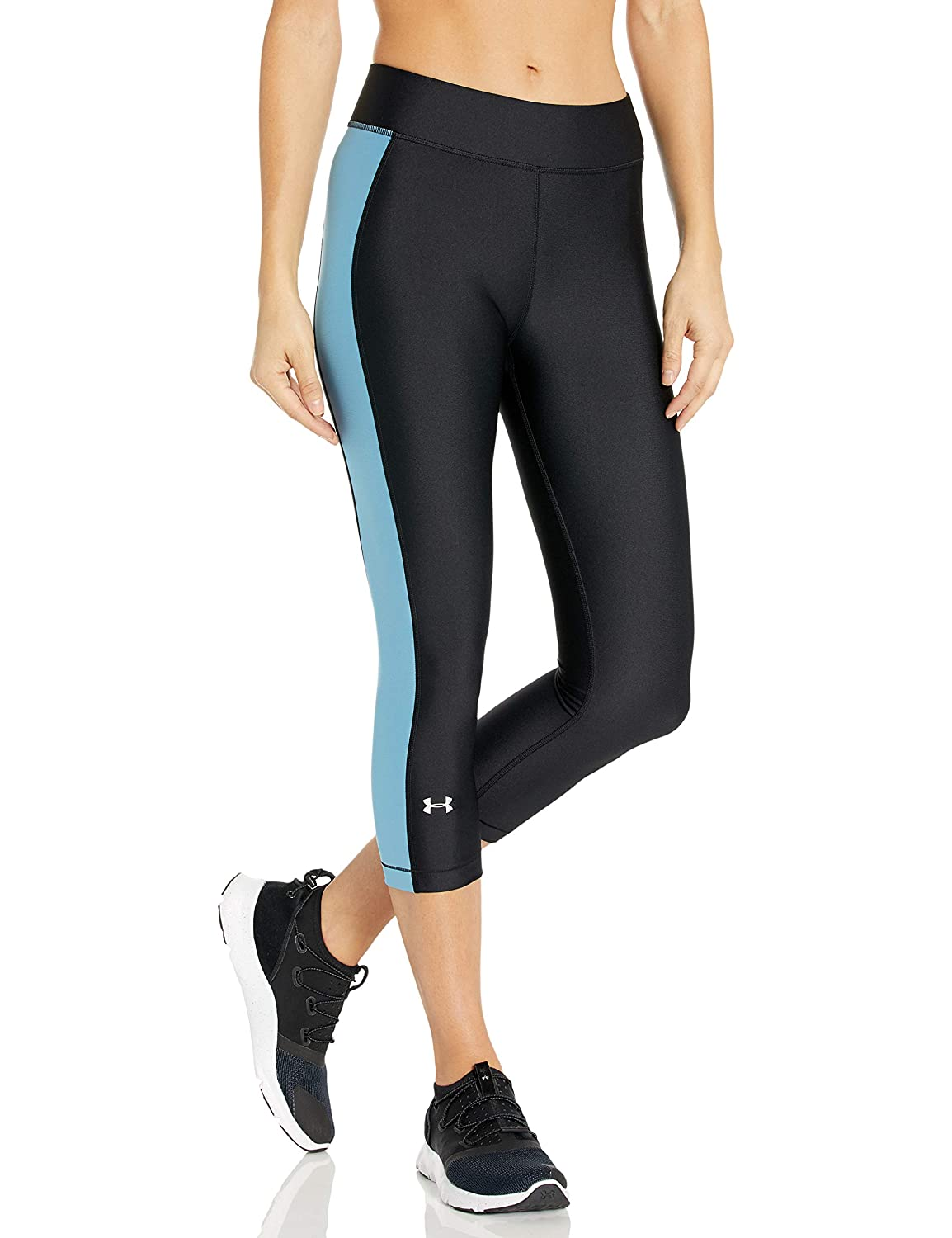 Fast-Drying Workout Leggings for Women Under Armour Womens Hg Armour Capri Yoga Pants Three Quarter Leggings Made from Ultralight Fabric