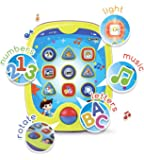 """Boxiki kids Smart Pad for Babies and Children Learning by Educational Toy for Infants with Kids' Learning Games. Learn Numbers, ABC Learning, """"Can You Find?"""" Game, Music, Light Up Whack-a-Mole Game"""