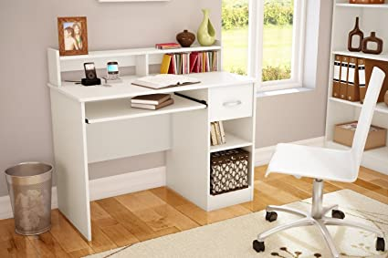 White Writing Desks For Small Spaces, Teens, Mens Or Ladies Writing Desk Is  Modern